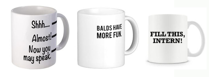 Funny Text on Mugs