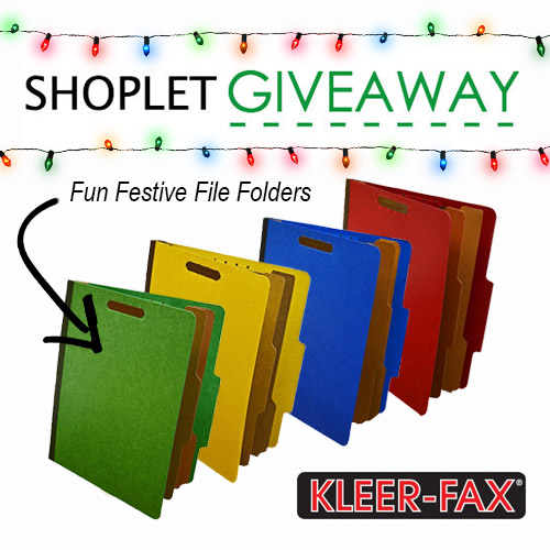 Kleer-Fax File Folders Giveaway