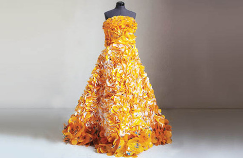 Recycled MM Wrappers Dress