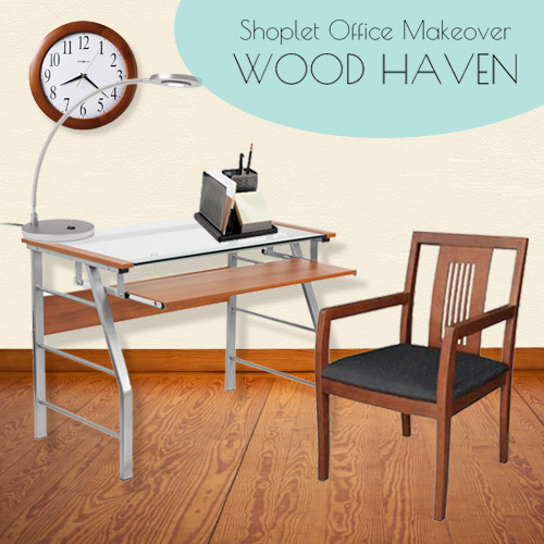 Shoplet Office Makeover Collection 2 - Wood Haven