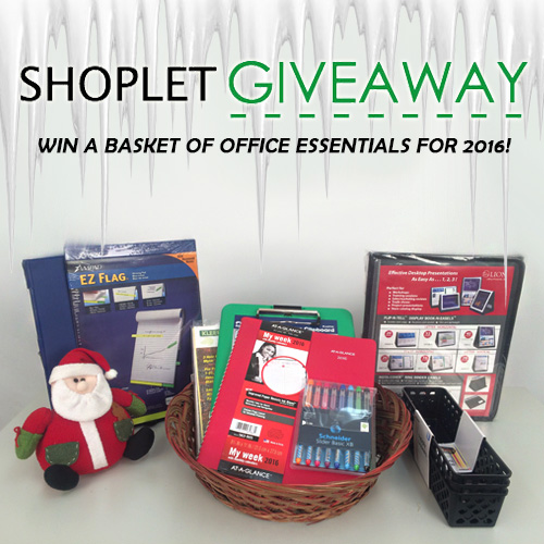 Basket of Office Supplies Giveaway
