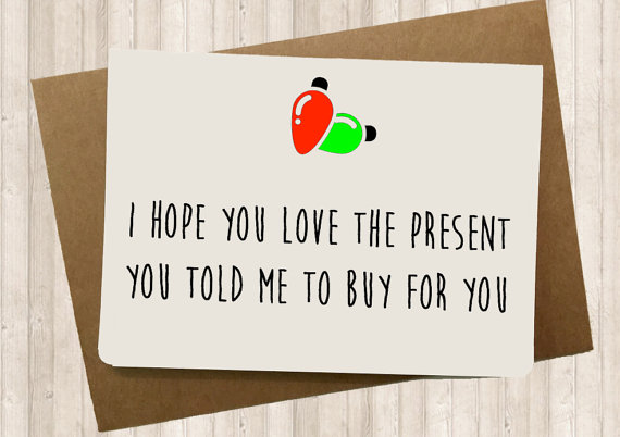 Do you like your present?