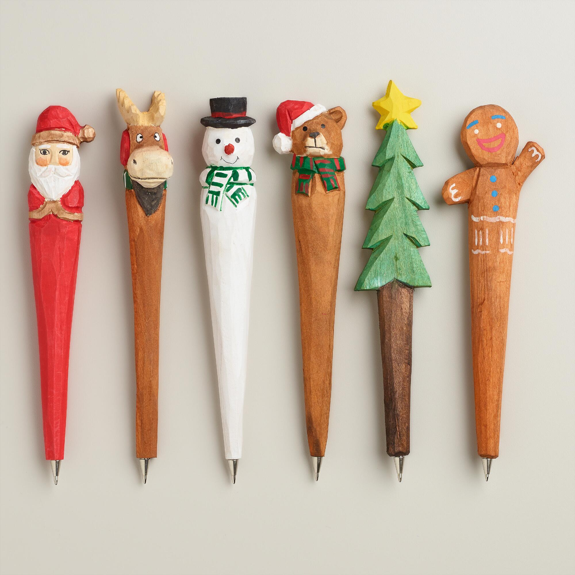 holiday Wooden Pens