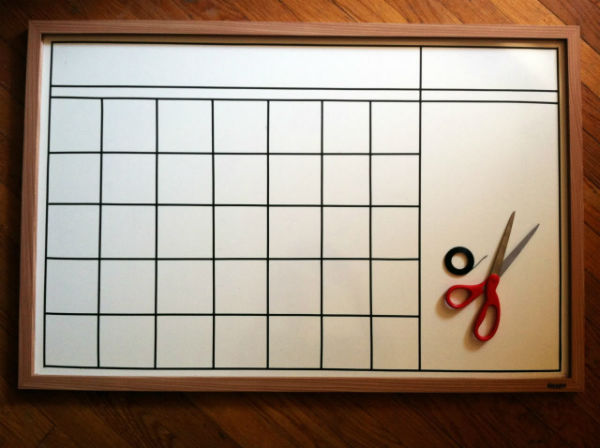 Whiteboard Calendar Diy : Ways to make your desk more organized shoplet