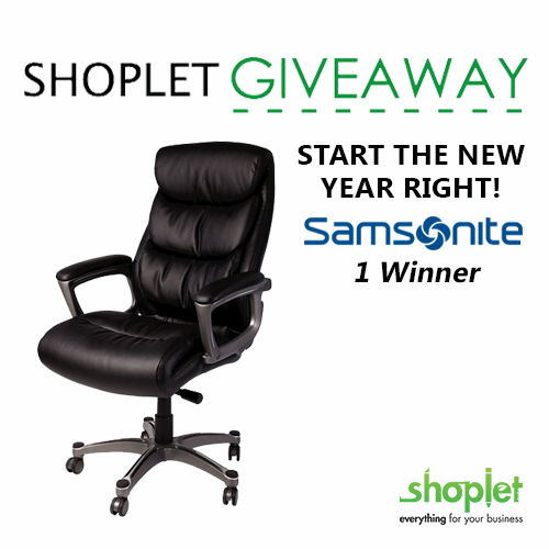 Samsonite Office Chair Shoplet Weekly Giveaway