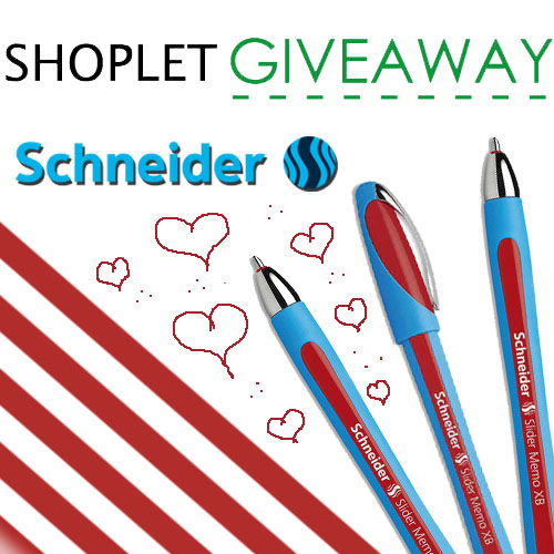 win a box of red schneider pens