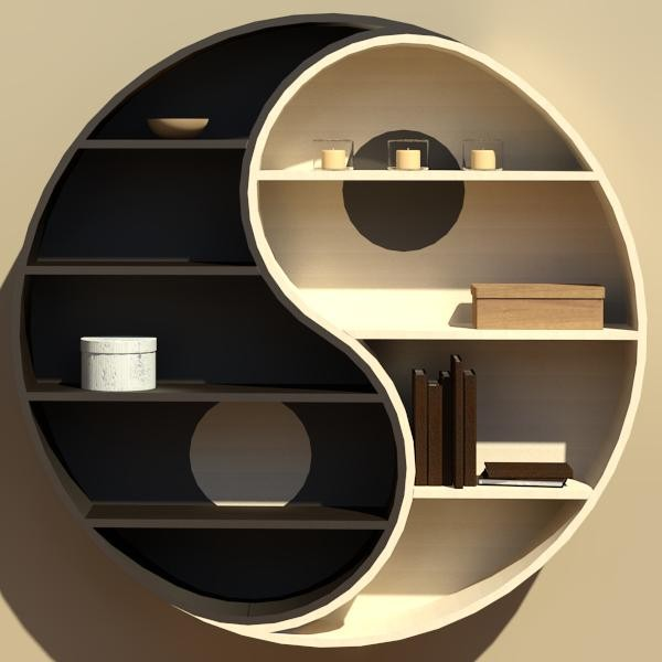Special Ying Yang Book Shelf