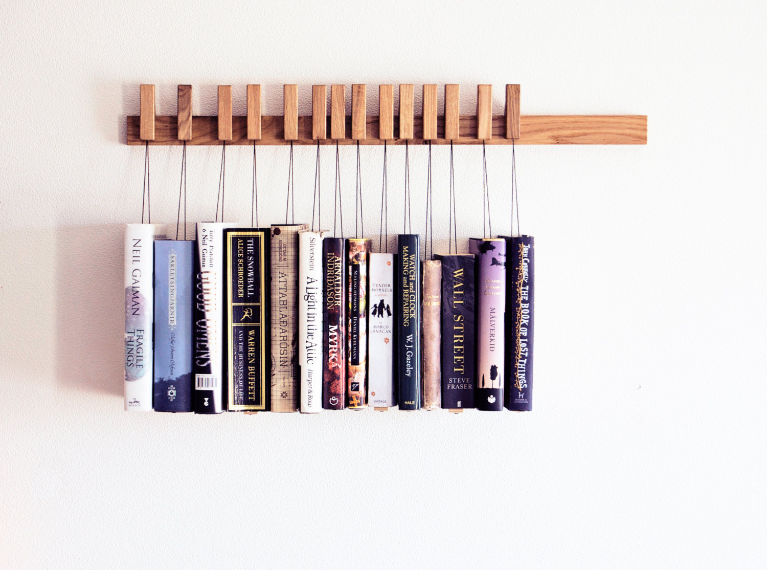 Natural Wood Bookshelf