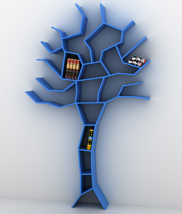 Blue Tree Bookcase