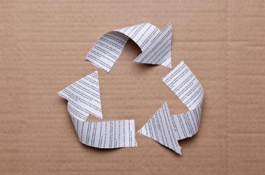 5 things that you can recycle at work today shoplet for Things made by waste paper