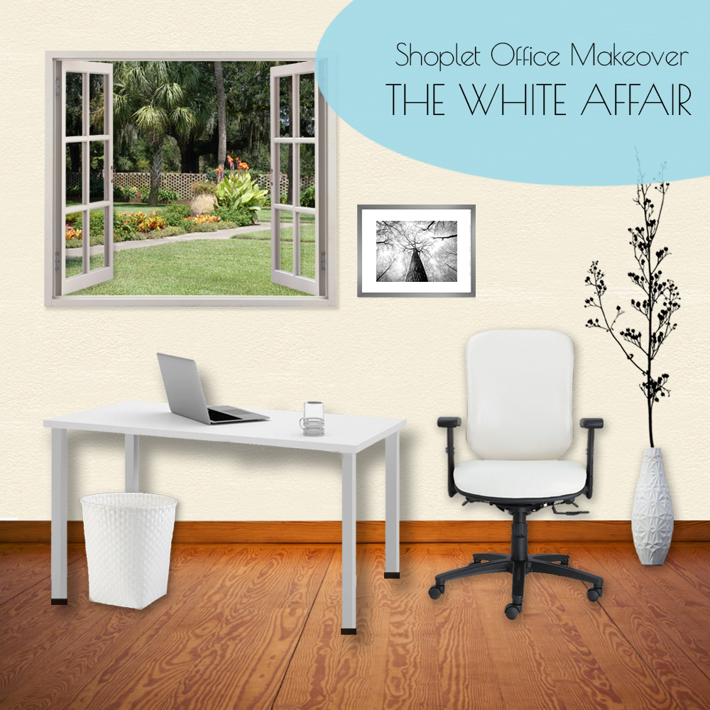 Shoplet 22nd Birthday Office Makeover White Affair