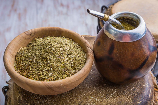 Yerba Mate with gourd and bombilla