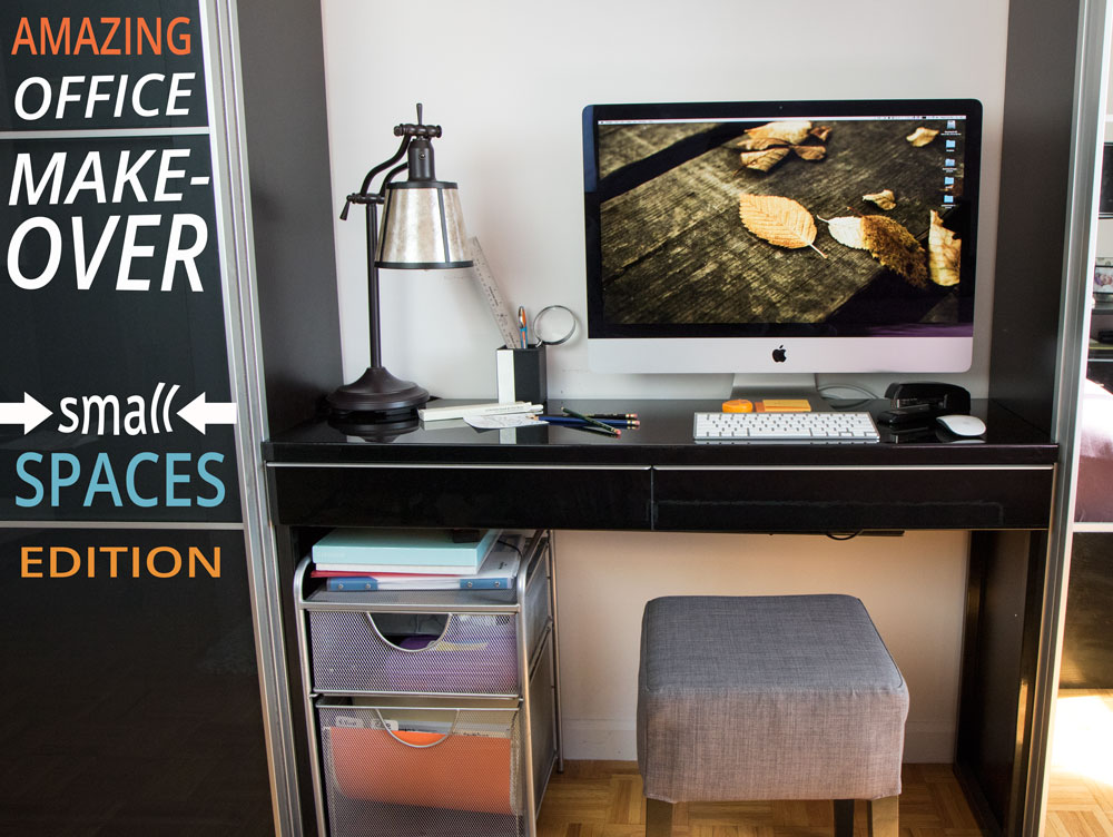 Small Home Office Makeover: title shot