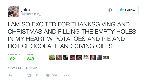 Holiday Excitement for Food