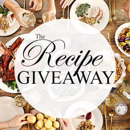 RECIPE GIVEAWAY