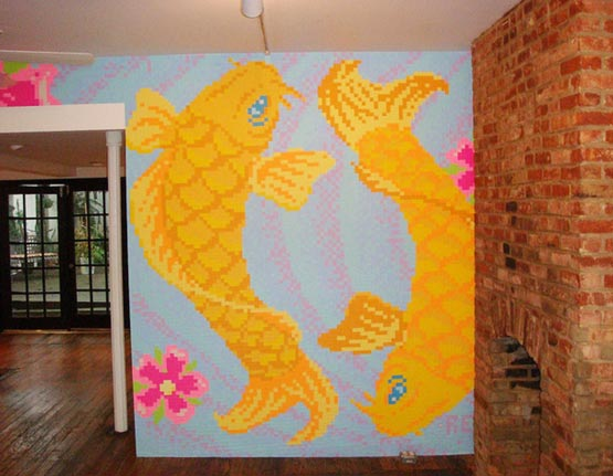 Goldfish Post-it Art