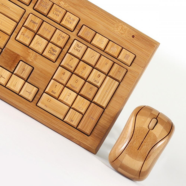 bamboo computer keyboard and mouse