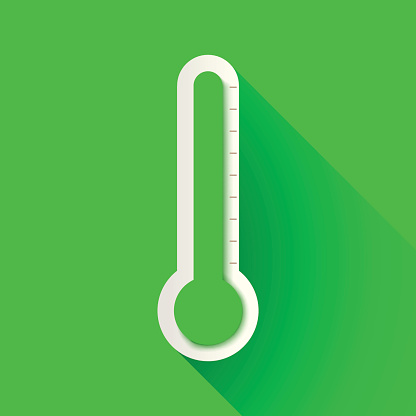 thermometer on green