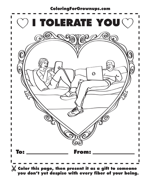 Tolerate You coloring