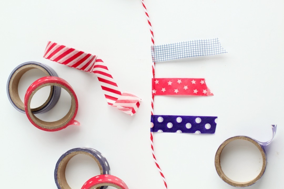 washi-tape-banner-patriotic-mantle-