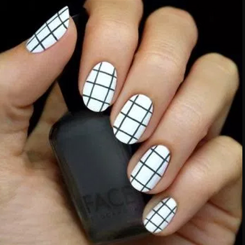 Graph paper nails