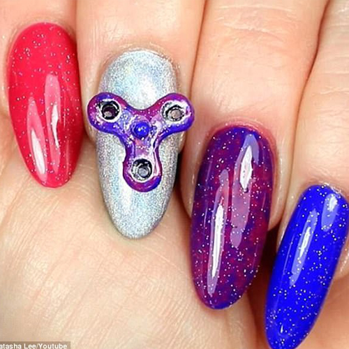 Spinner nails